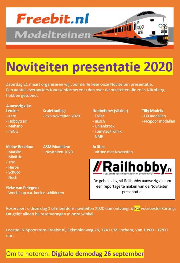Noviteiten presentatie 2020